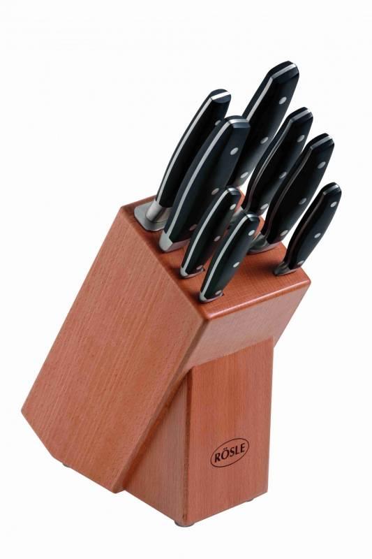 Rösle Messerblock Buchenholz - sicheres Aufbewahren hochwertiger Messer