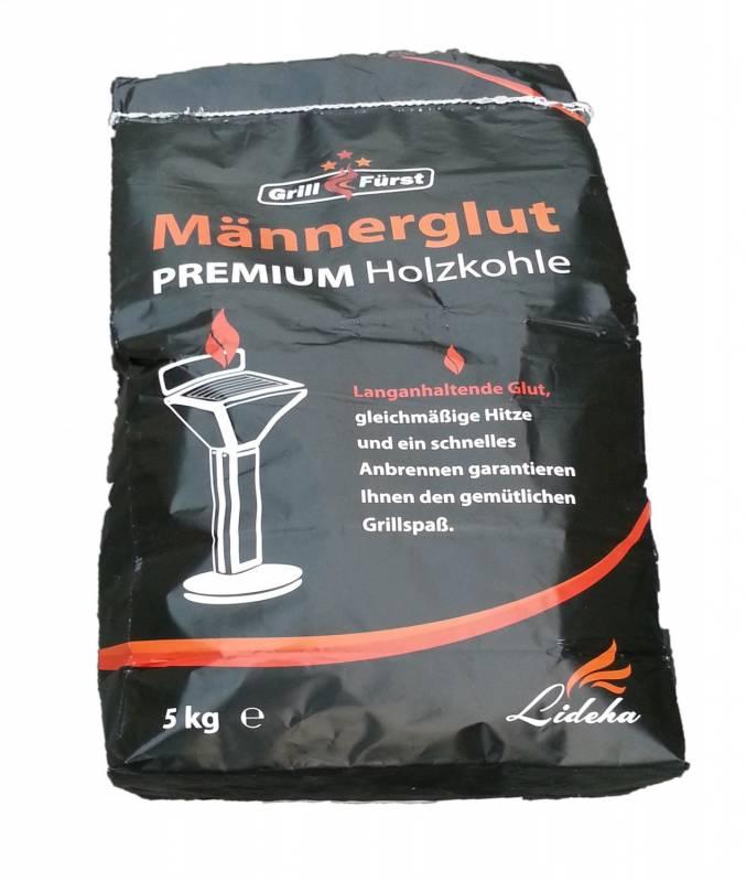 300kg Männerglut Premium Holzkohle v. 2.0 - Hochwertiger Hartholz Mix - 80% Buche