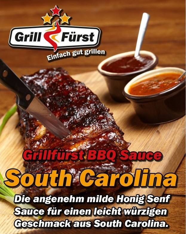 Grillfürst BBQ Sauce Honig-Senf South Carolina