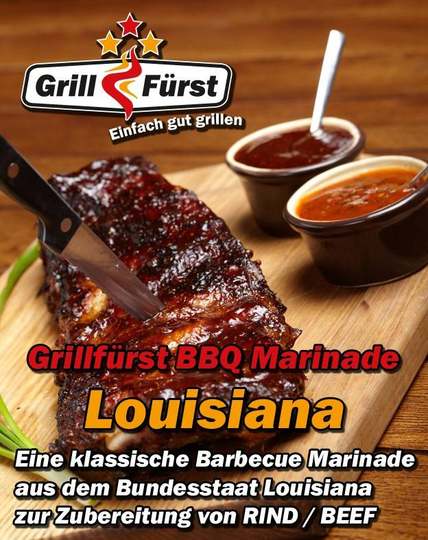 Grillfürst BBQ Beef Marinade Louisiana