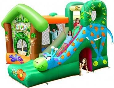 Hüpfburg HappyHop Jungle Fun mit Riesenrutsche 11,9 m²
