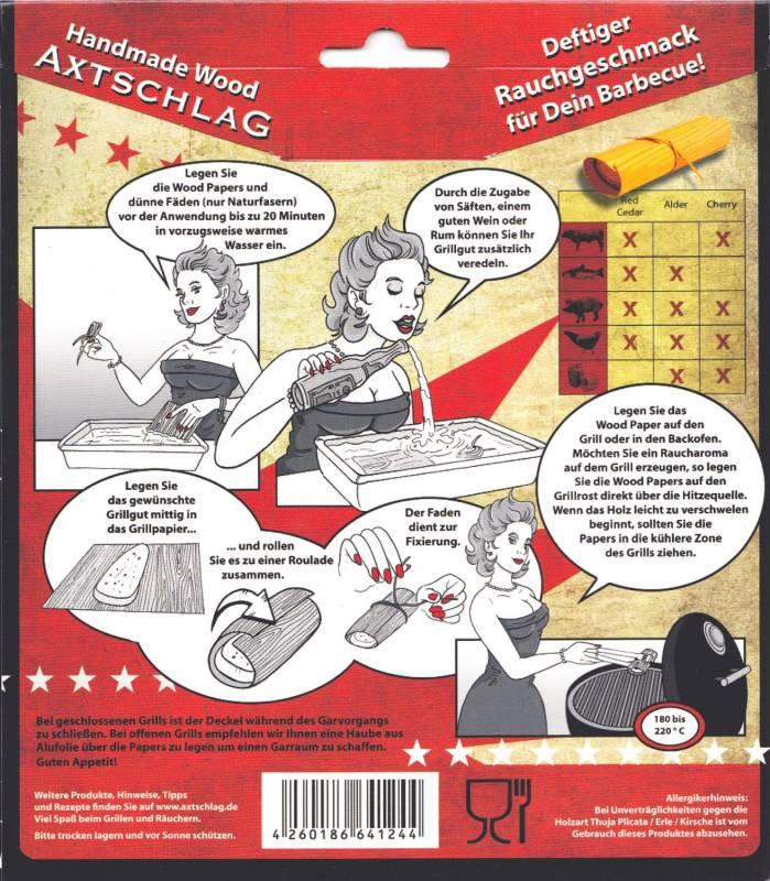 Axtschlag Wood Wraps Western Red Cedar XL 190x170 8-er Pack