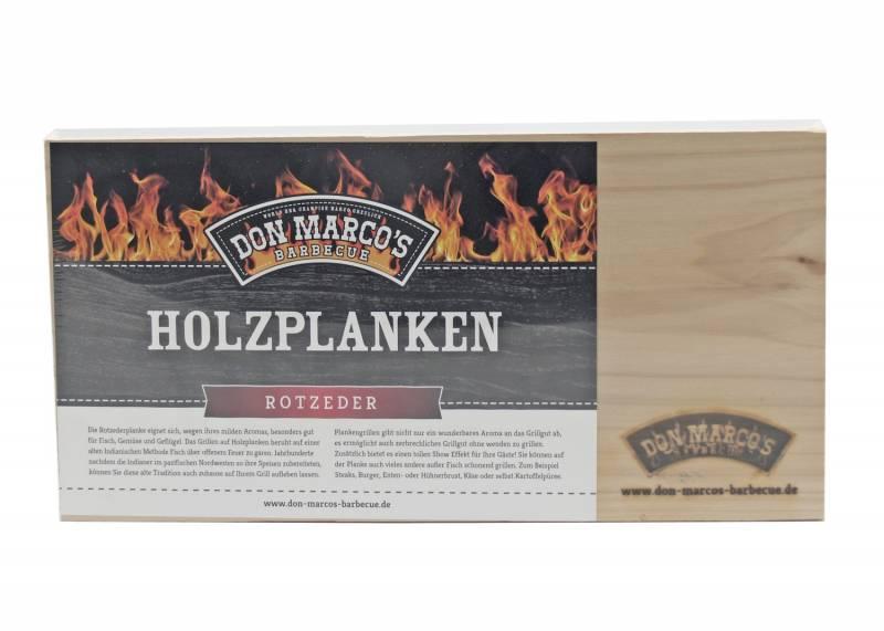 Don Marco`s Holzplanke Rote Zeder - Grillen mit Räucherbrett