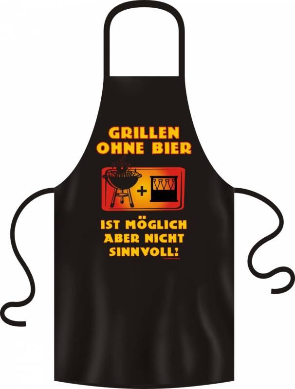 Grillschürze Grillen ohne Bier