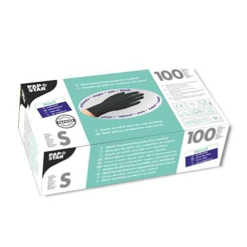 100 Handschuhe, Nitril puderfrei schwarz Größe S
