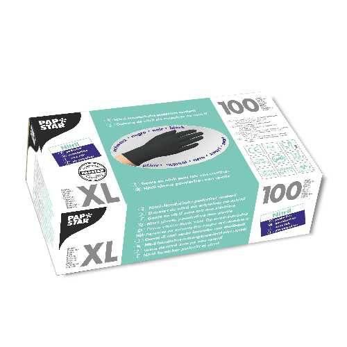 100 Handschuhe, Nitril puderfrei schwarz Größe XL