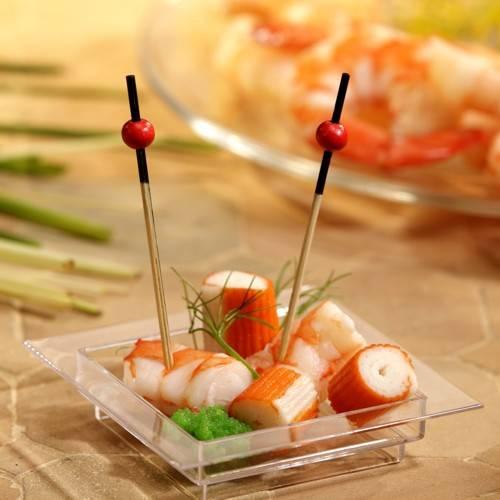 """250 Fingerfood - Spieße 7 cm """"Red Pearl"""""""