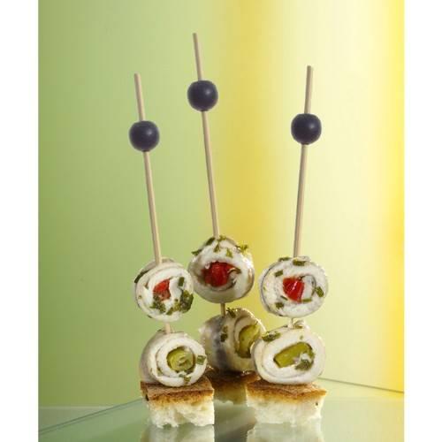 """250 Fingerfood - Spieße 12,5 cm """"Black Pearl"""""""