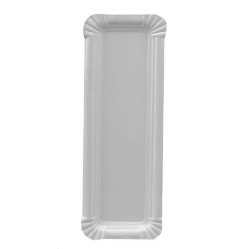 Papstar: 250 Teller, Pappe pure eckig 8 cm x 23 cm weiss