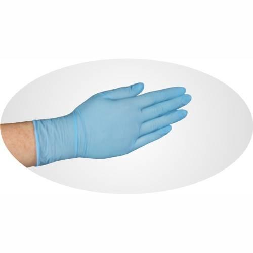 Papstar: 100 Handschuhe, Nitril puderfrei blau Food Profi Größe M - Auslaufmodell