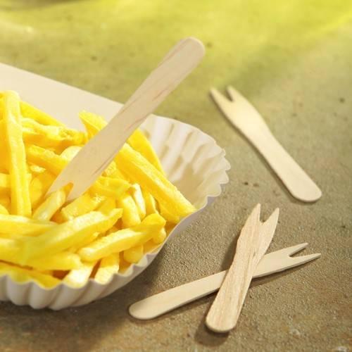 "1000 Pommes-Frites-Gabeln, Holz ""pure"" 8,5 cm"