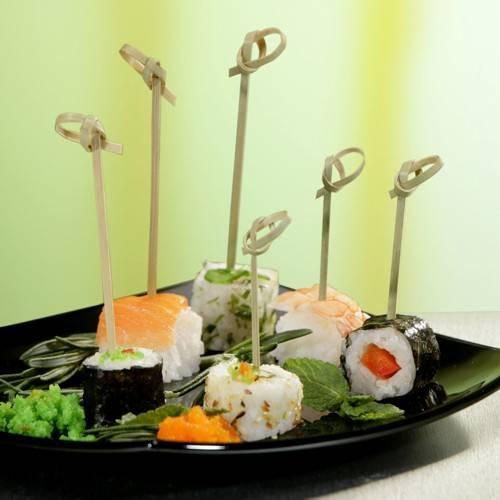 "250 Fingerfood - Spieße 10 cm ""Knoten"""