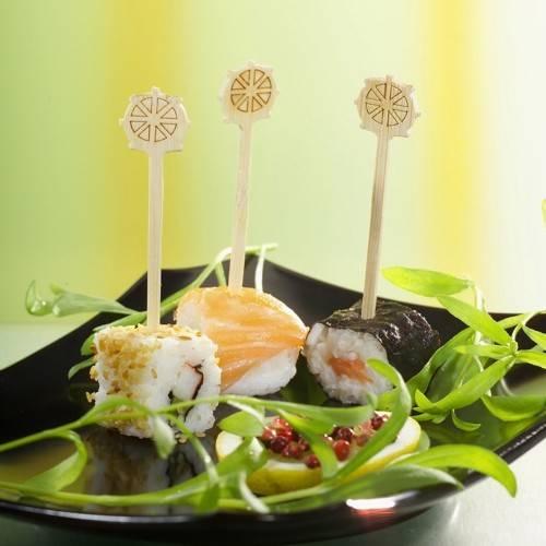 "200 Fingerfood - Spieße 9 cm ""Steuerrad"""
