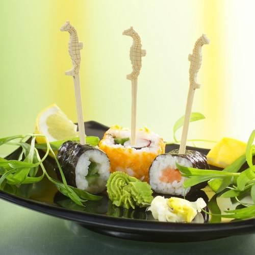 "200 Fingerfood - Spieße 9 cm ""Seepferdchen"""