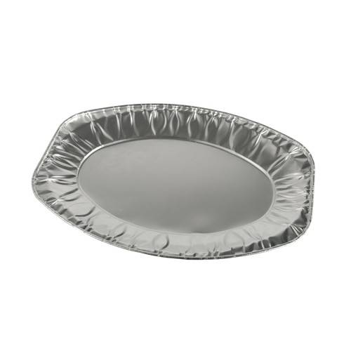 10 Servierplatten, Alu oval 33,3 cm x 23,3 cm