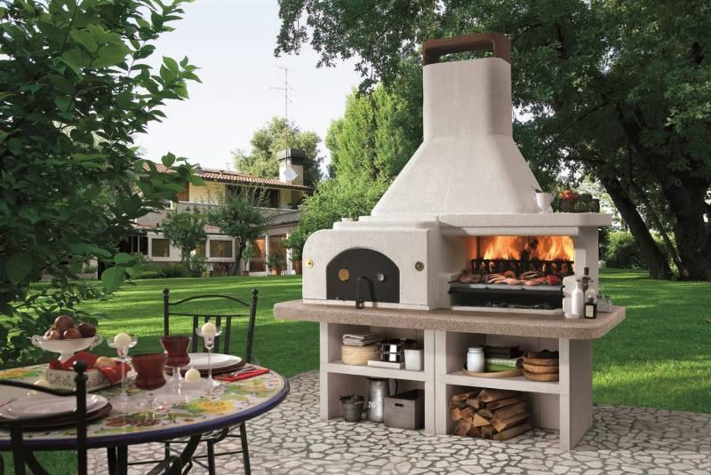 palazzetti gargano 3 grillkamin der gartenkamin mit pizzaofen. Black Bedroom Furniture Sets. Home Design Ideas