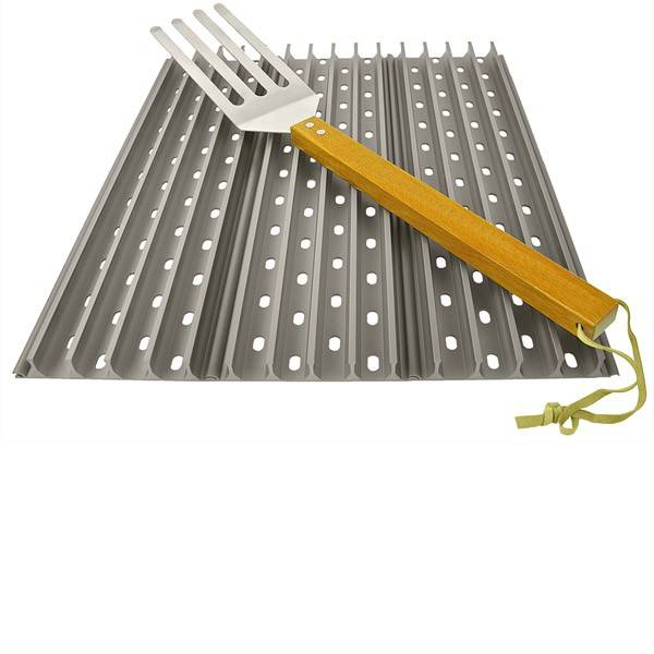 3x Grillgrate 44x13,34 cm (17,7 Zoll x 5,25 Zoll) Set + 1 free GrateTool