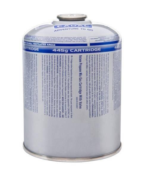 CADAC Druckgasdose mit Ventil 445g - Alternative zur Weber Schraubkartusche