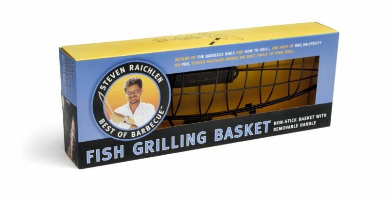 Steven Raichlen Fisch-Grillkorb, antihaftbeschichtet