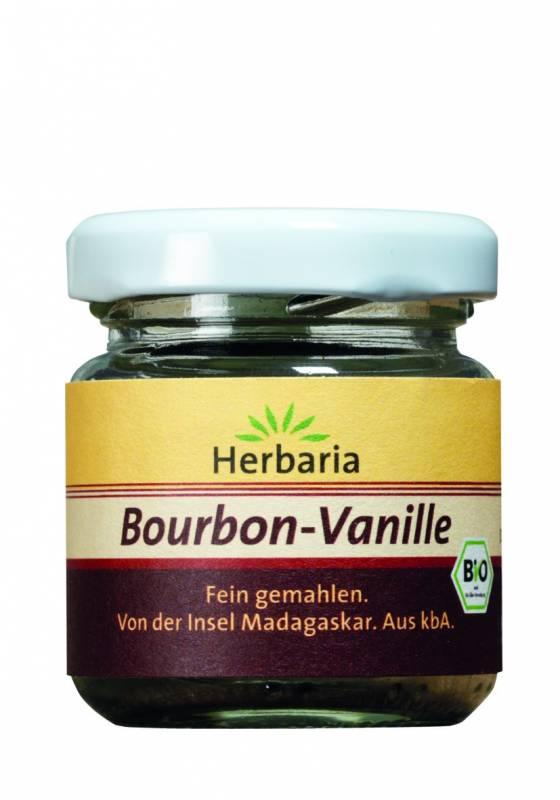 Herbaria BIO Bourbon Vanillepulver - Glas 10g