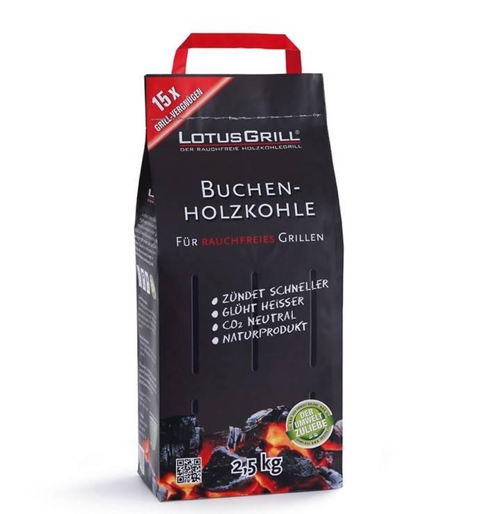 LotusGrill Buchenholzkohle 2,5 kg
