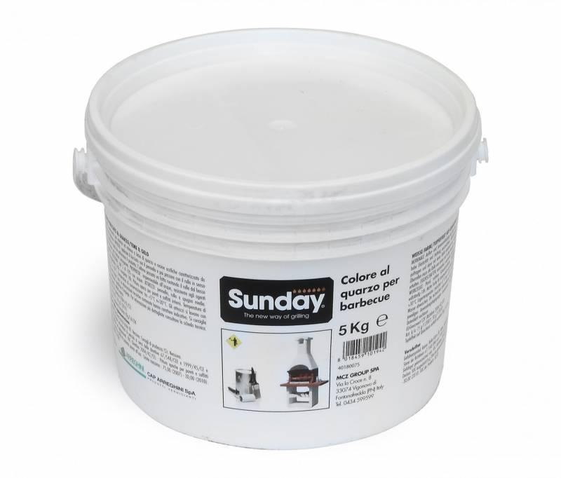 Farbe für Gartenkamine – weiß – 5 kg