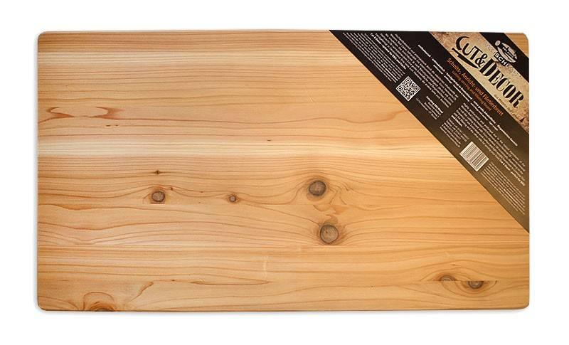 Axtschlag Schneidebrett Holz (Rotzeder) 700 x 400