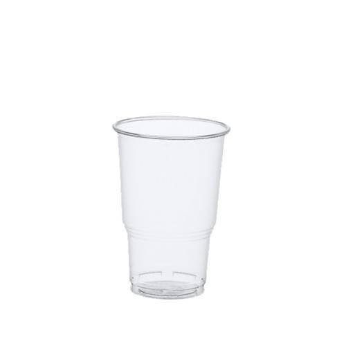25 Kaltgetränkebecher PLA pure 0,25 l Ø 7,8 cm bis 11 cm glasklar mit Schaumrand