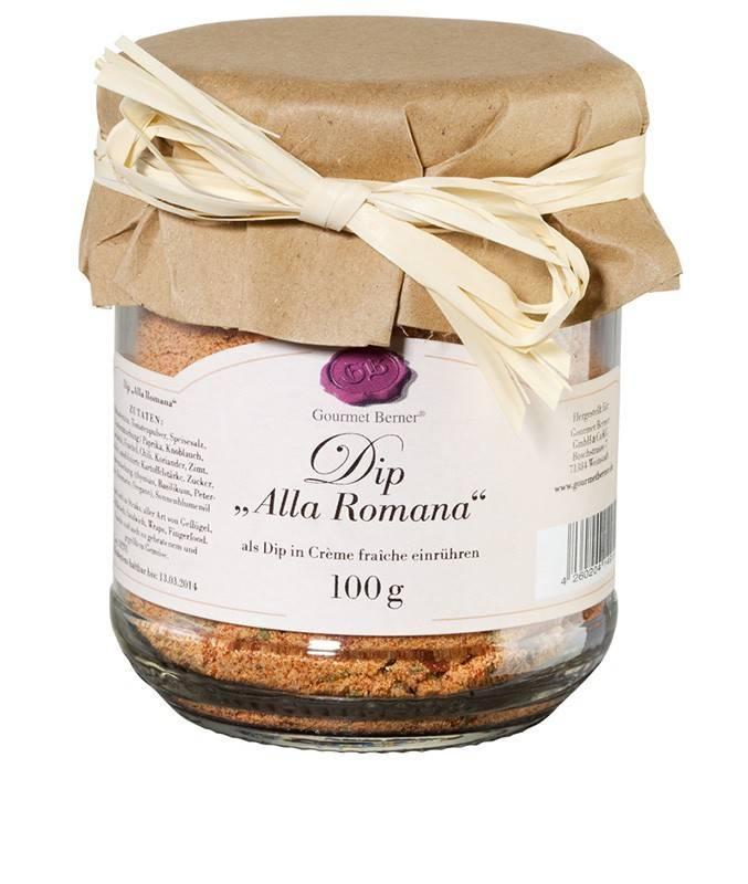 "Gourmet Berner ""Alla Romana"" Dip im 100g Glas"