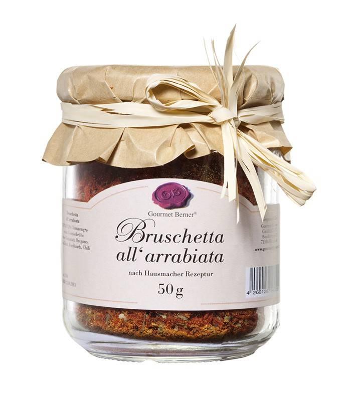Gourmet Berner Bruschetta arrabiata (scharf) im 50g Glas