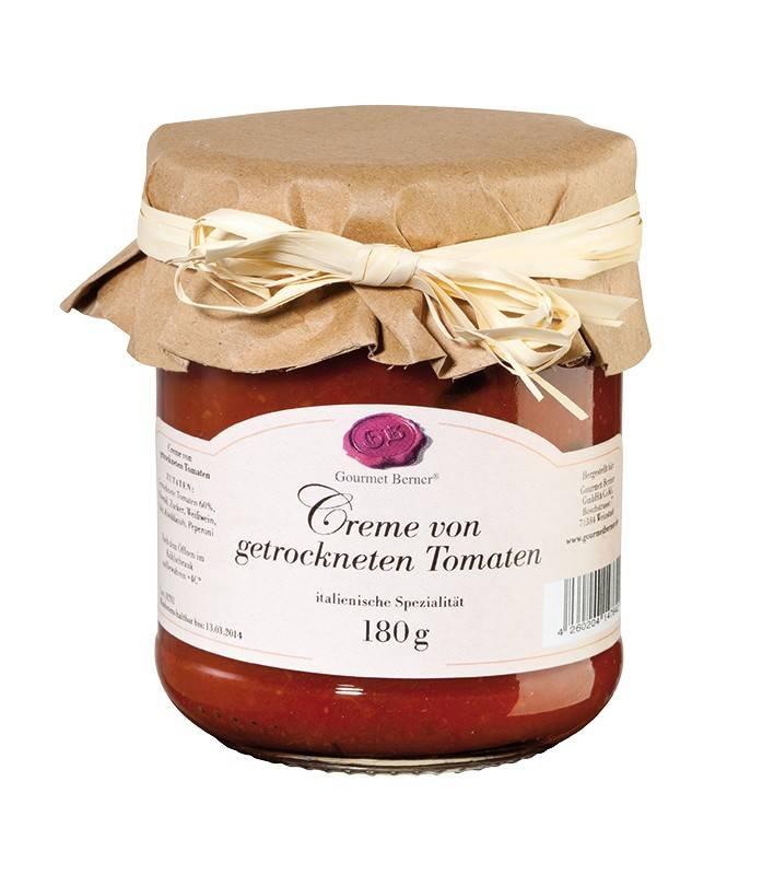 Gourmet Berner Creme von getrockneten Tomaten im 180g Glas