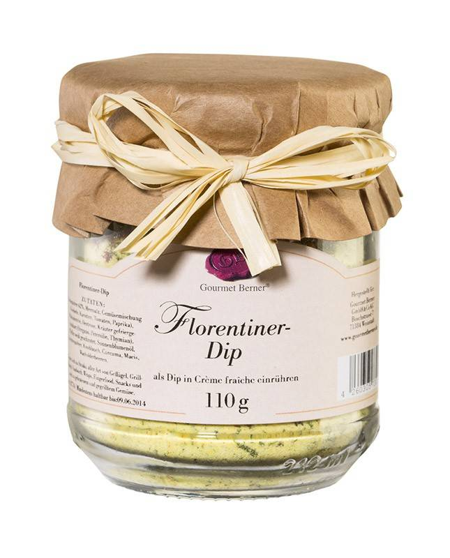 Gourmet Berner Florentiner Dip im 110g Glas