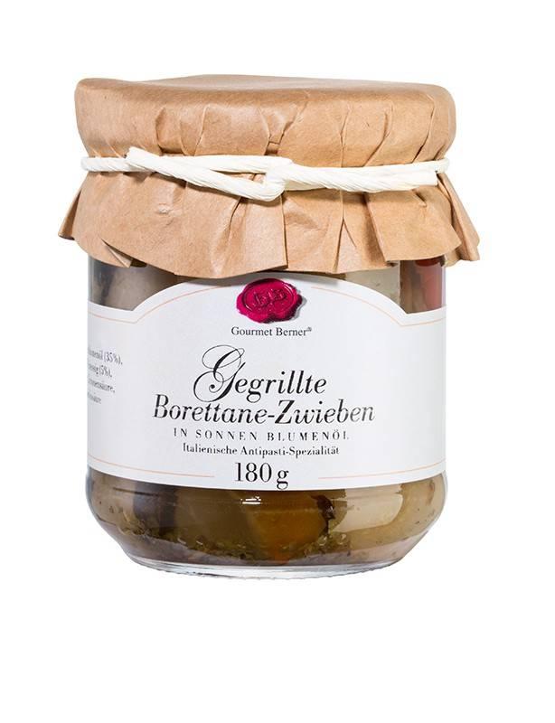 Gourmet Berner Gegrillte Borettane Zwiebeln in Öl, 180g