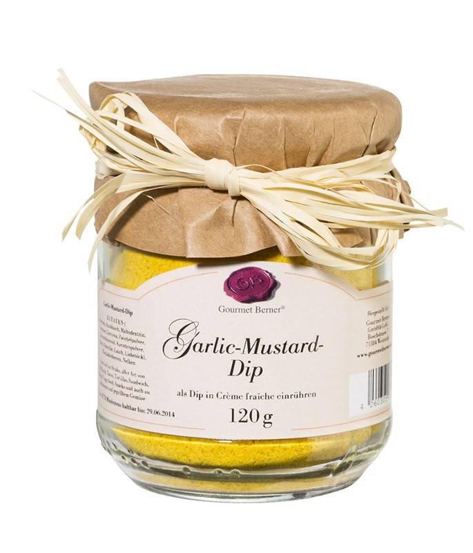 Gourmet Berner Garlic Mustard Dip im 120g Glas