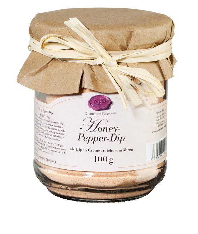 Gourmet Berner Honey- Pepper Dip im 100g Glas