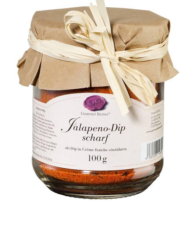 "Gourmet Berner Jalapeno Dip ""scharf"" im 100g Glas"