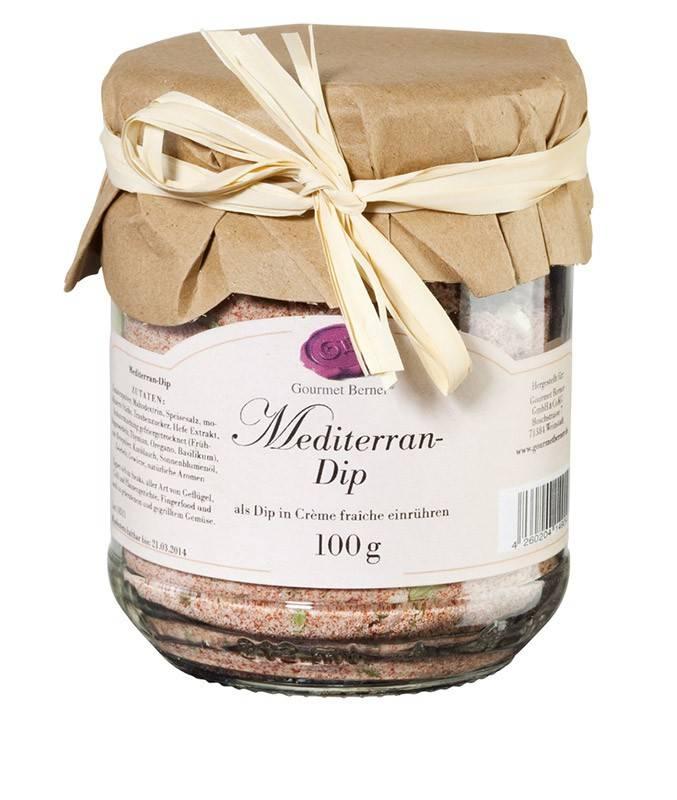 Gourmet Berner Mediterran- Dip 100g im Glas