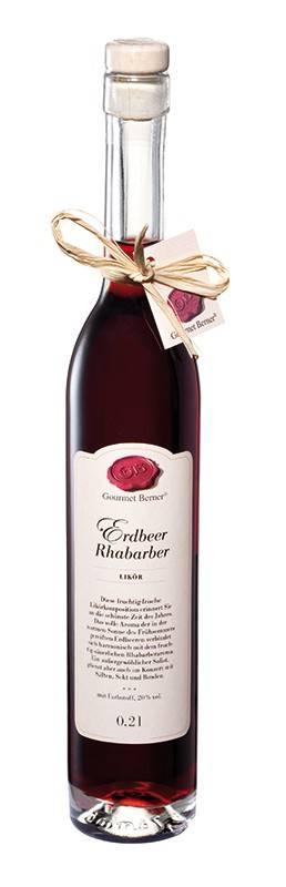 Gourmet Berner Erdbeer Rhabarberlikör, 20%vol., 0,2l