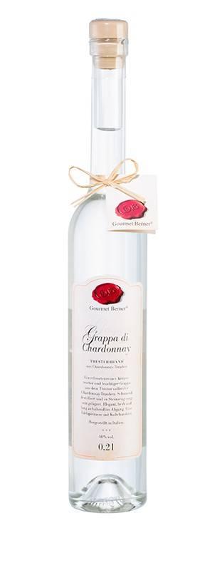 Gourmet Berner Grappa Chardonnay, 40%vol., 0,2l