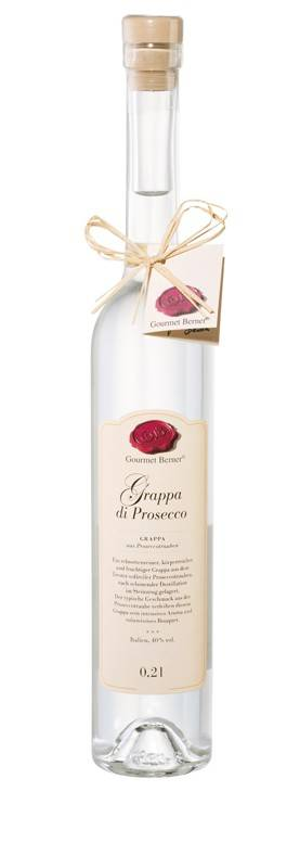 Gourmet Berner Grappa di Prosecco, 40%vol., 0,2l