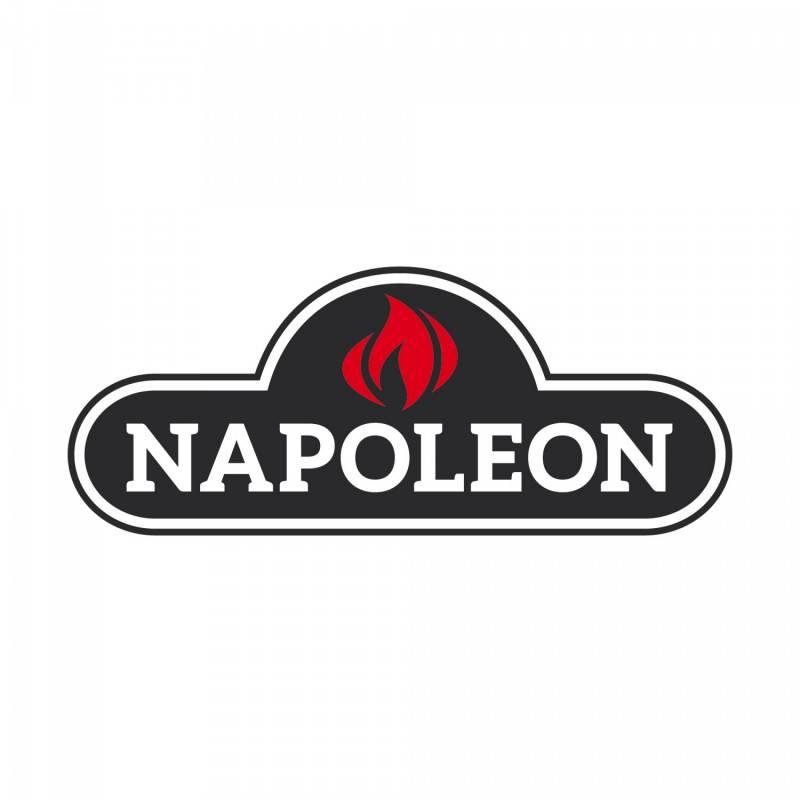 """Napoleon Grillbürste schwarz mit Edelstahl Borsten 18"""""""