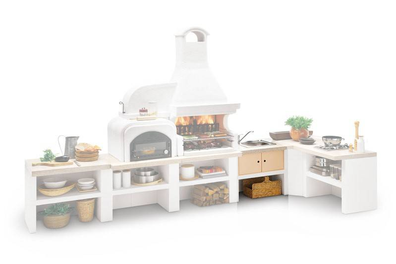 Outdoorküche Mit Spüle Xxl : Palazzetti gartenküche modul spüle marmortech rot