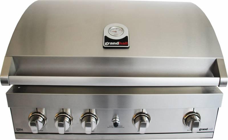 Grandhall Gasgrill Elite 4B Edelstahl Einbaugrill (K04000060A) - Modell 2018
