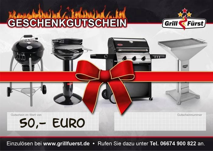 Grillfürst Geschenk Gutschein 50€