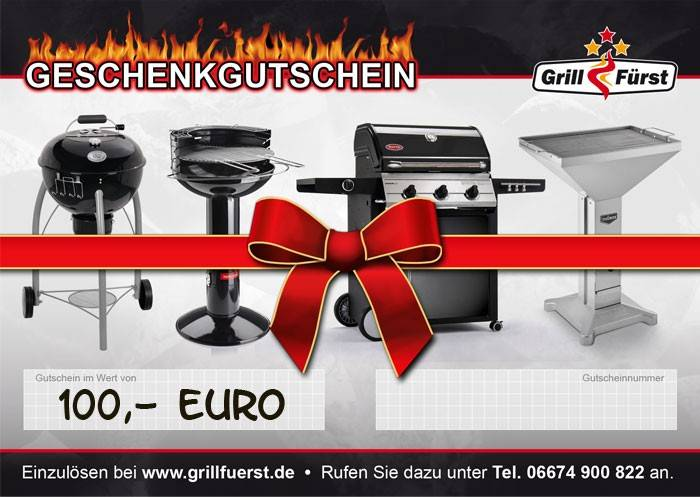 Grillfürst Geschenk Gutschein 100€