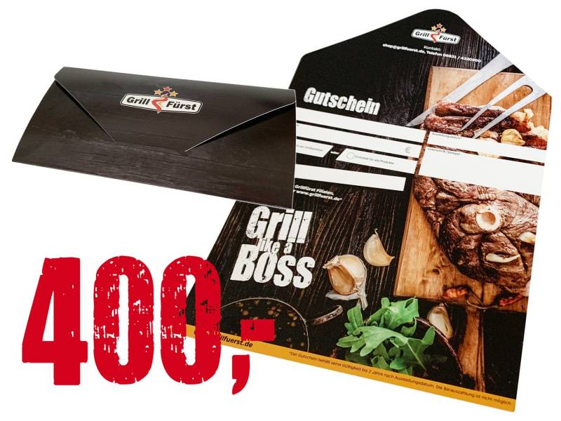 Grillfürst Geschenkgutschein 400€