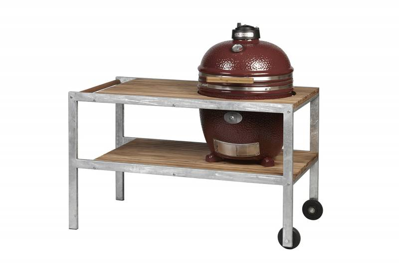 Monolith Grill Classic Red MG18RNC mit Tisch - Set