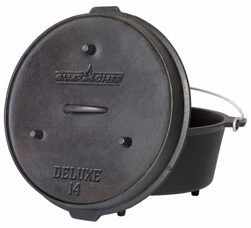 """Camp Chef 14"""" Deluxe Gusseisentopf / Dutch Oven Set"""