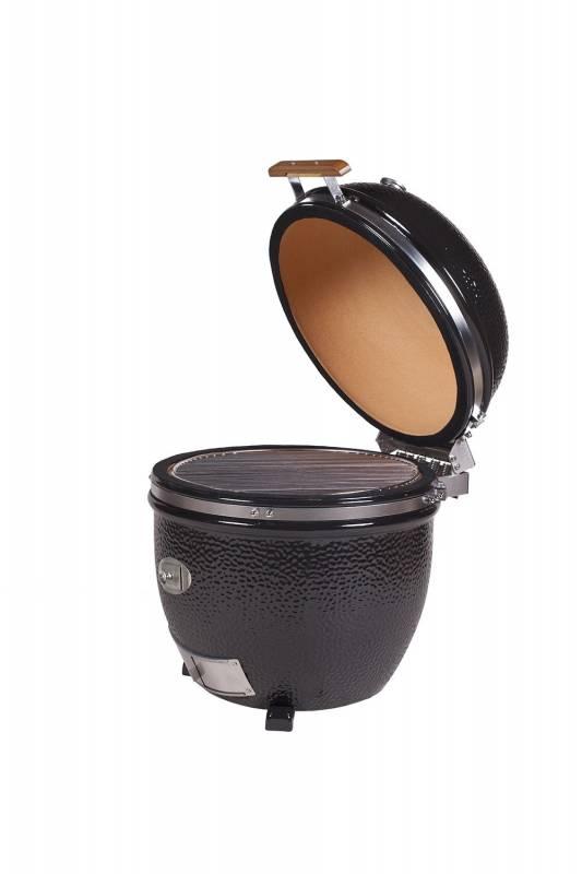 Monolith Grill LeChef Black im Buggy - der mobile Keramikgrill