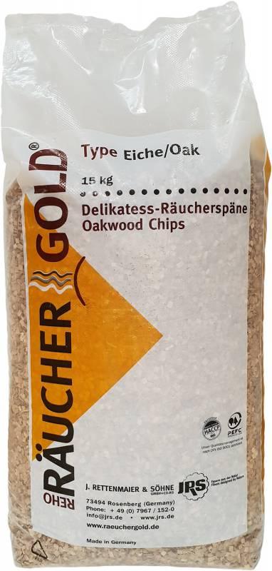 E 2 - 16 15 kg Räuchergold Eichenholz Räucherchips
